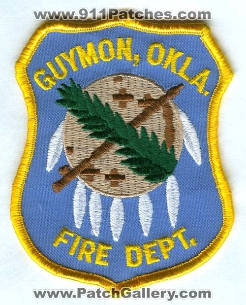 Guymon Fire Department Patch Oklahoma OK