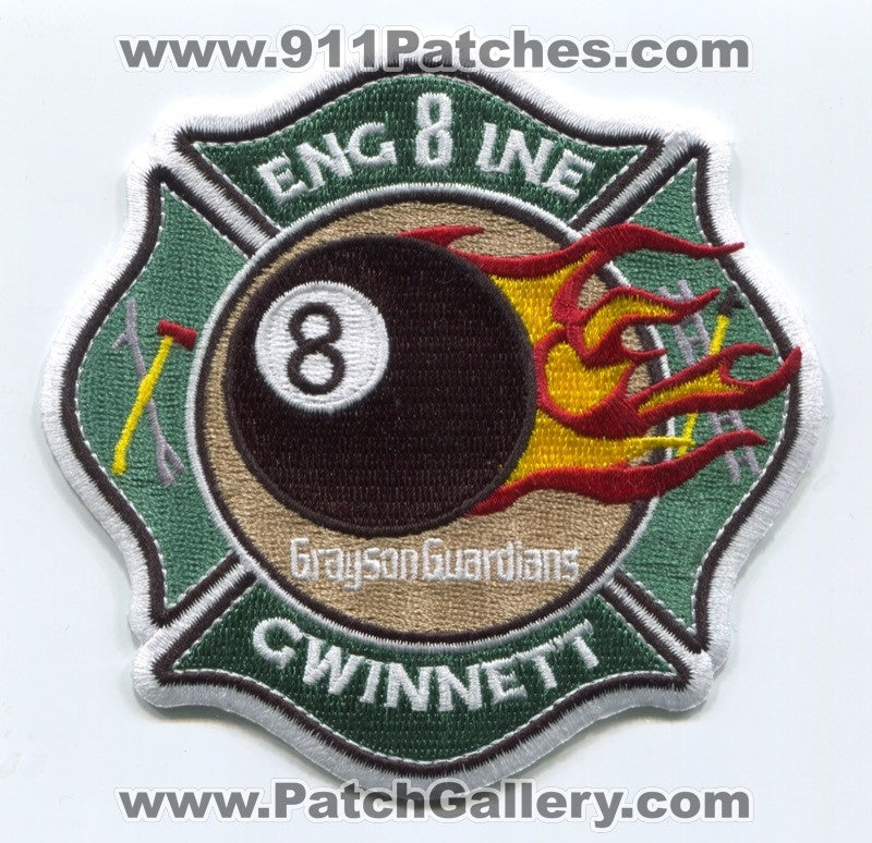 Gwinnett County Fire Department Engine 8 Patch Georgia GA