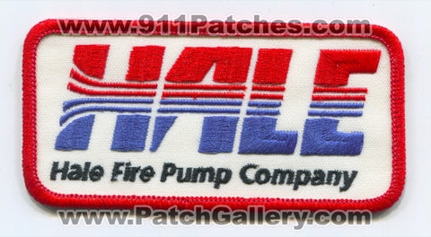 Hale Fire Pump Company Patch Florida FL
