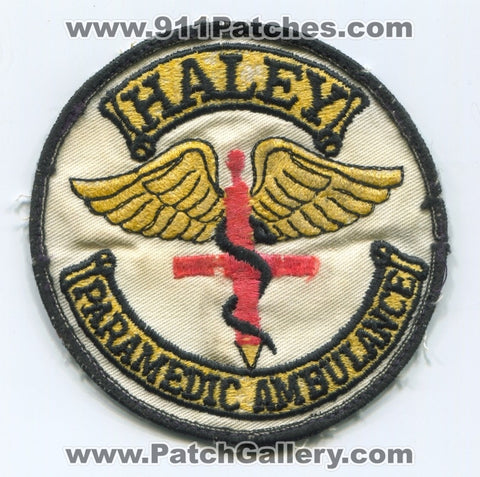 Haley Paramedic Ambulance EMS Patch Colorado CO