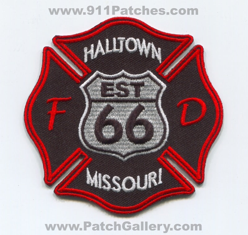Halltown Fire Department Patch Missouri MO