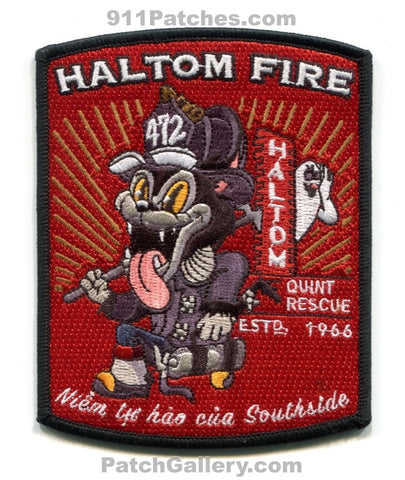 Haltom City Fire Department Quint 472 Patch Texas TX