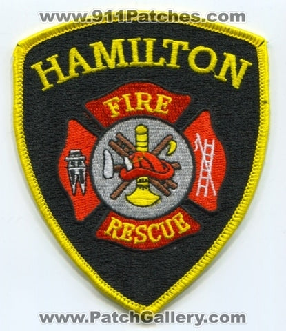 Hamilton Fire Rescue Department Patch Michigan MI