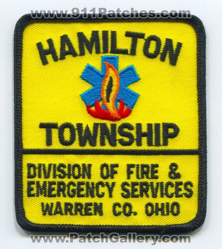 Hamilton Township Division of Fire and Emergency Services Patch Ohio OH