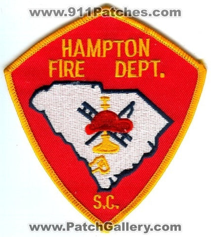 Hampton Fire Department Patch South Carolina SC