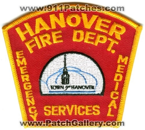 Hanover Fire Department Emergency Medical Services EMS Patch New Hampshire NH
