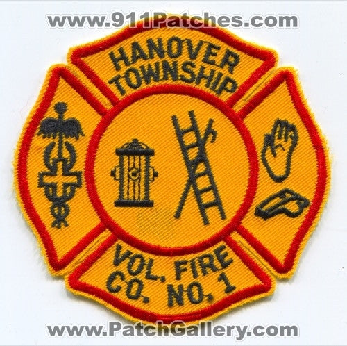 Hanover Township Volunteer Fire Company Number 1 Patch Pennsylvania PA