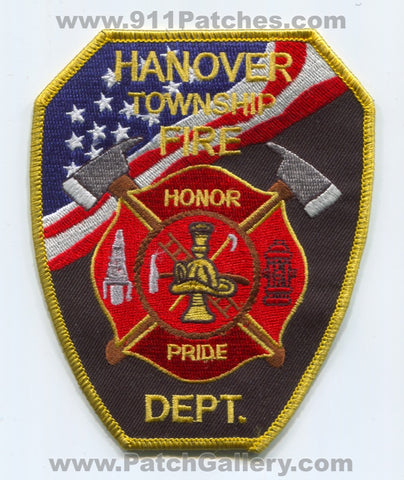 Hanover Township Fire Department Patch Pennsylvania PA