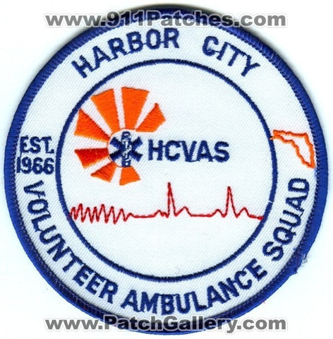 Harbor City Volunteer Ambulance Squad HCVAS EMS Patch Florida FL
