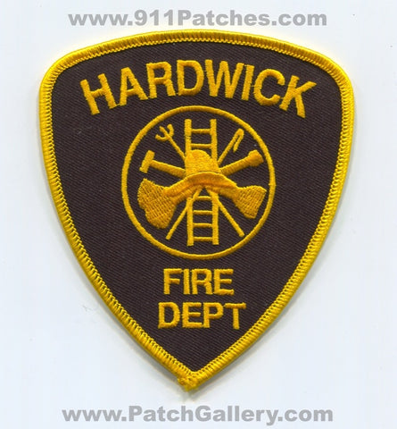 Hardwick Fire Department Patch Vermont VT