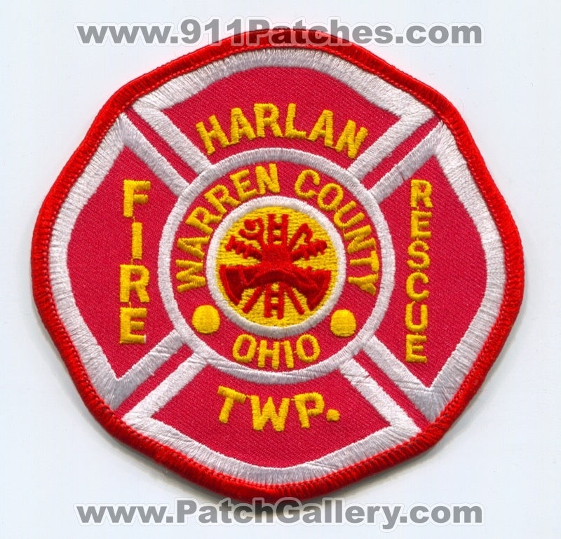 Harlan Township Fire Rescue Department Warren County Patch Ohio OH