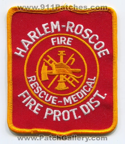 Harlem Roscoe Fire Protection District Patch Illinois IL