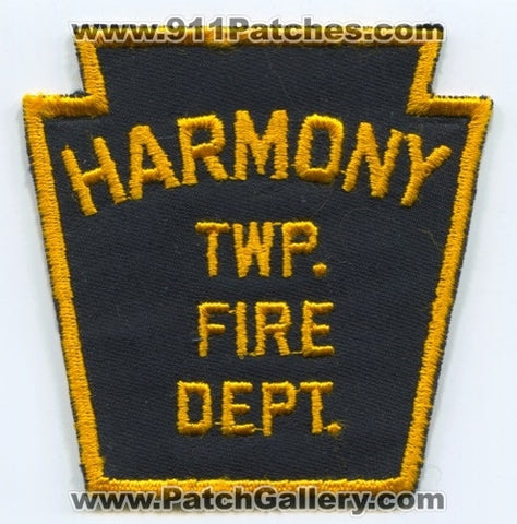 Harmony Township Fire Department Patch Pennsylvania PA