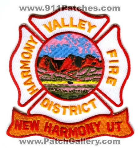 Harmony Valley Fire District Patch Utah UT