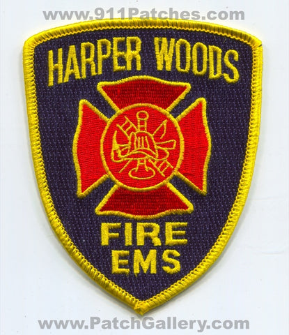 Harper Woods Fire EMS Department Patch Michigan MI