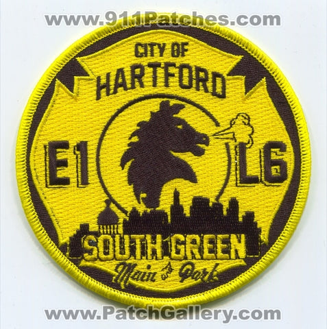 Hartford Fire Department Engine 1 Ladder 6 Patch Connecticut CT