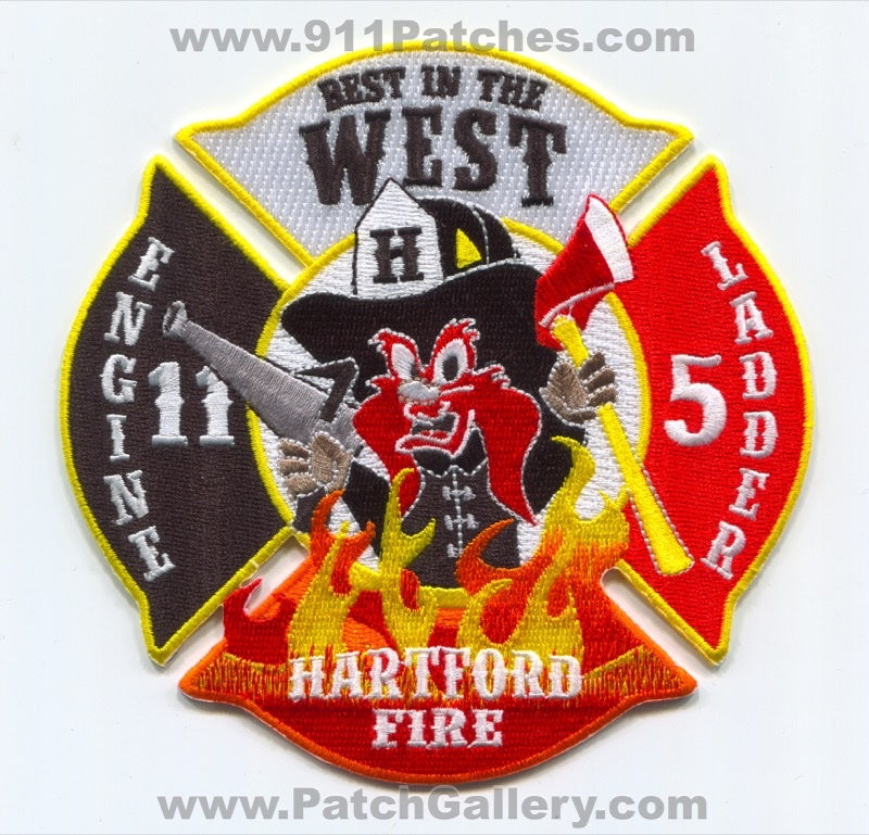 Hartford Fire Department Engine 11 Ladder 5 Patch Connecticut CT