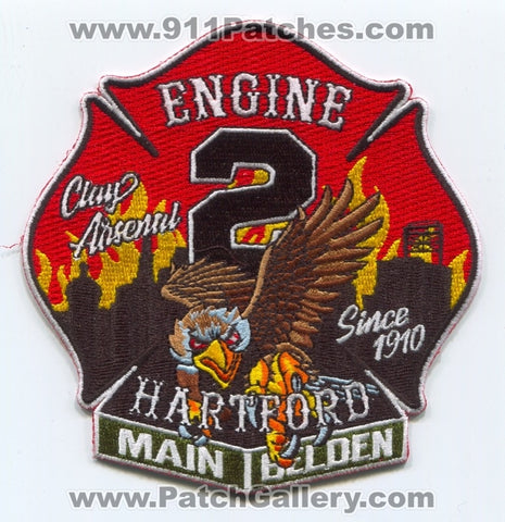 Hartford Fire Department Engine 2 Patch Connecticut CT