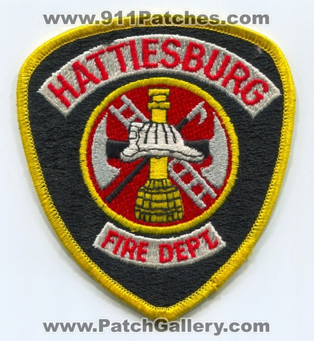 Hattiesburg Fire Department Patch Mississippi MS