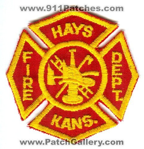 Hays Fire Department Patch Kansas KS