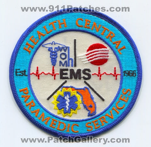 Health Central Paramedic Services EMS Patch Florida FL