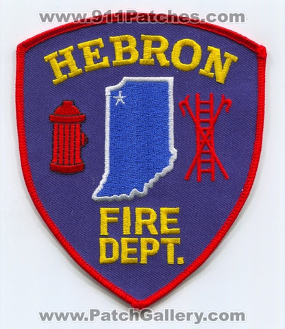 Hebron Fire Department Patch Indiana IN