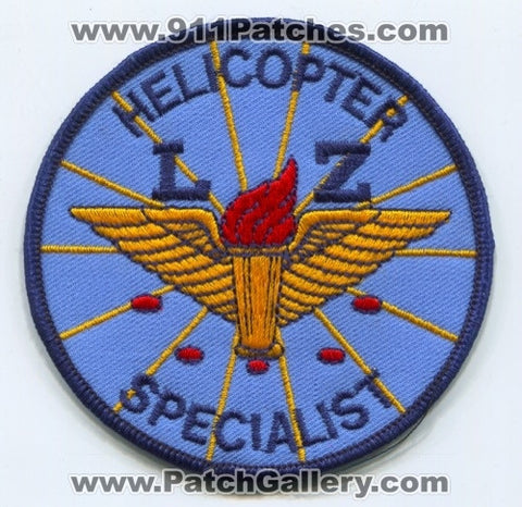 Helicopter LZ Specialist EMS Patch Unknown State