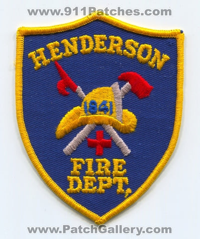 Henderson Fire Department Patch Pennsylvania PA