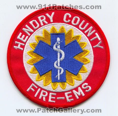 Hendry County Fire EMS Department Patch Florida FL