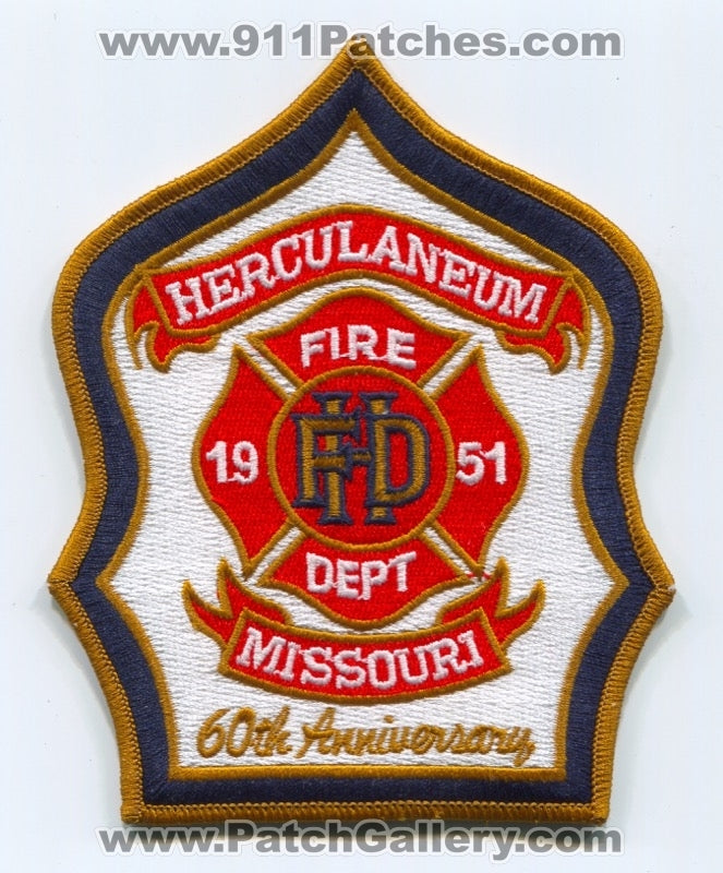 Herculaneum Fire Department 60th Anniversary Patch Missouri MO