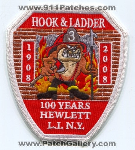 Hewlett Fire Department Hook and Ladder 3 Patch New York NY