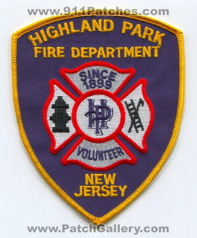 Highland Park Volunteer Fire Department Patch New Jersey NJ