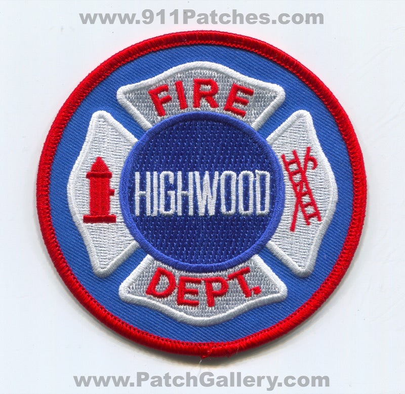 Highwood Fire Department Patch Illinois IL