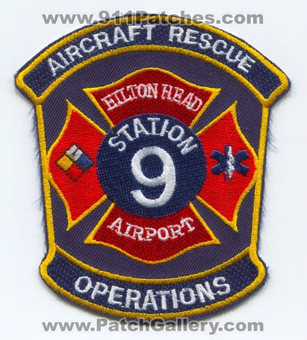 Hilton Head Airport Fire Department Station 9 Aircraft Rescue Operations Patch South Carolina SC