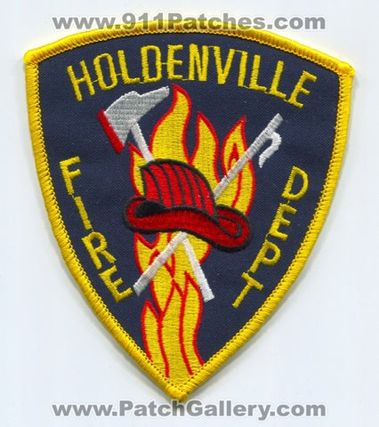 Holdenville Fire Department Patch Oklahoma OK