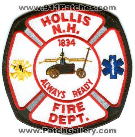 Hollis Fire Department Patch New Hampshire NH