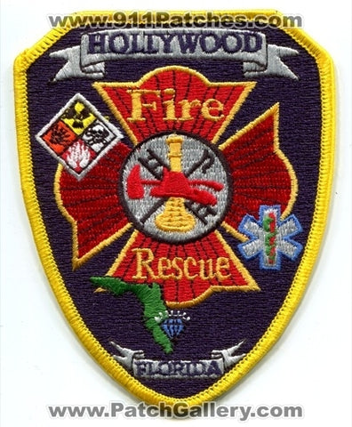 Hollywood Fire Rescue Department Patch Florida FL
