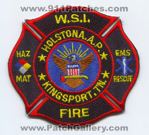 Holston Army Ammunition Plant AAP Fire Department Kingsport US Army Military Patch Tennessee TN