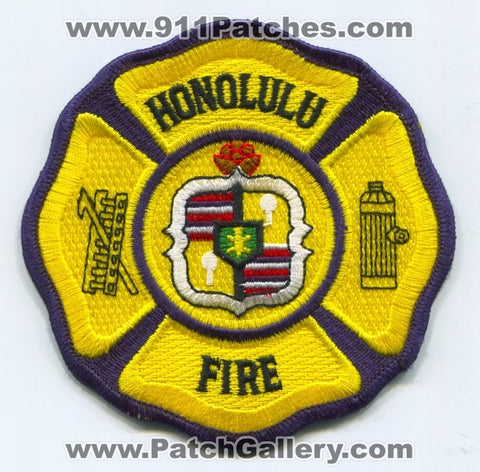 Honolulu Fire Department Patch Hawaii HI