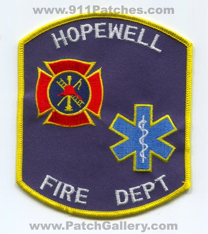 Hopewell Fire Department Patch Mississippi MS