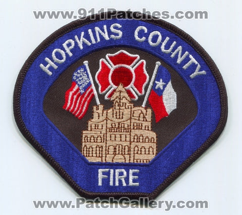 Hopkins County Fire Department Patch Texas TX