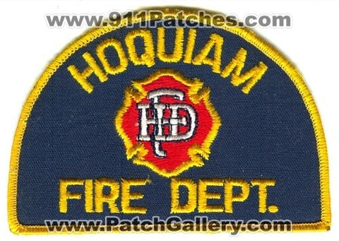 Hoquiam Fire Department Patch Washington WA