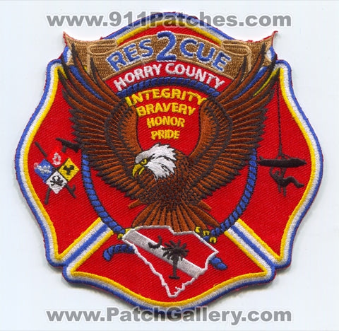 Horry County Fire Rescue Department Rescue 2 Patch South Carolina SC