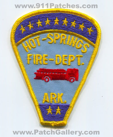 Hot Springs Fire Department Patch Arkansas AR