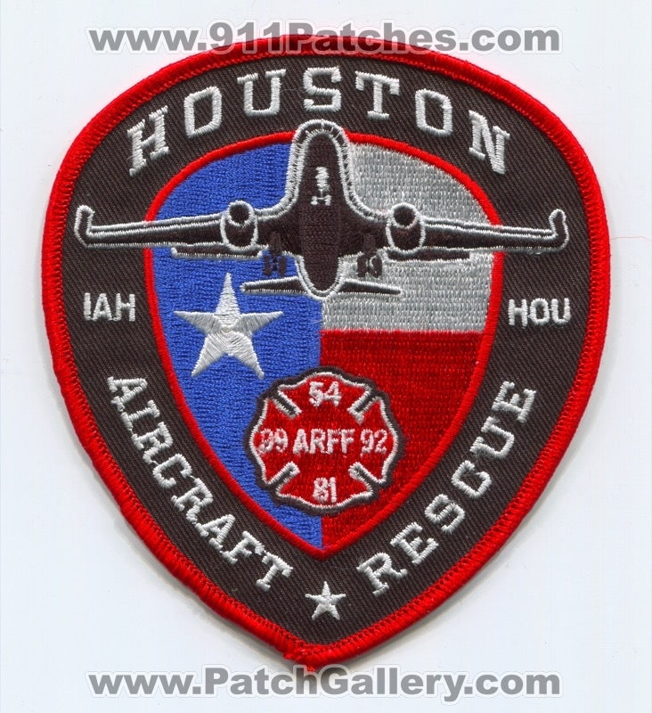 Houston Fire Department Aircraft Rescue Firefighting ARFF Patch Texas TX