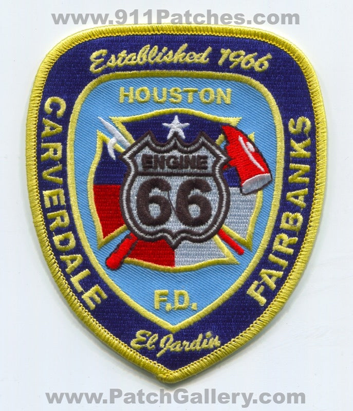 Houston Fire Department Station 66 Patch Texas TX