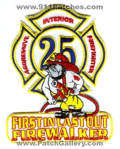 Houston Fire Department Station 25 Patch Texas TX