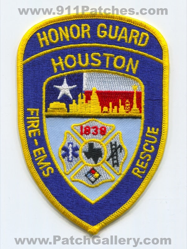 Houston Fire Department Honor Guard Patch Texas TX
