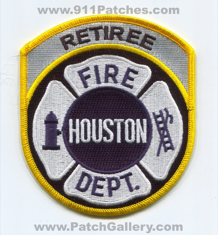 Houston Fire Department Retiree Patch Texas TX