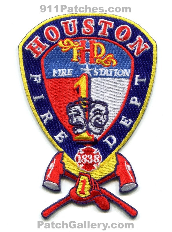 Houston Fire Department Station 1 Patch Texas TX